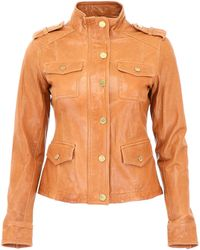 MICHAEL Michael Kors - Leather Jacket - Lyst