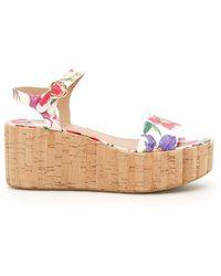 Ferragamo - Floral Print Tropea Sandals - Lyst