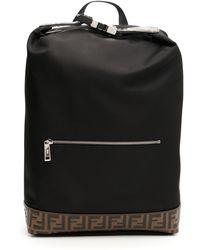 Fendi - Nylon Ff Backpack - Lyst