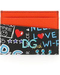 Dolce & Gabbana - Dg Graffiti Cardholder - Lyst