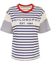 Philosophy - Striped T-shirt - Lyst