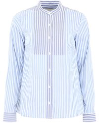 60faad1f9c204 Lyst - MICHAEL Michael Kors Silk Shirt With Long Puff Sleeve in White