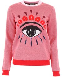 KENZO - Pullover With Embroidered Eye - Lyst