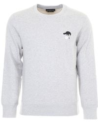 Alexander McQueen - Embroidered Skull-patch Sweatshirt - Lyst