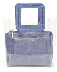 STAUD - Croc Print Mini Shirley Bag - Lyst