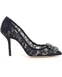 Dolce & Gabbana - Lace Bellucci Pumps - Lyst