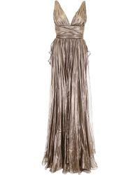 Maria Lucia Hohan - Metallic Silk Lucia Dress - Lyst