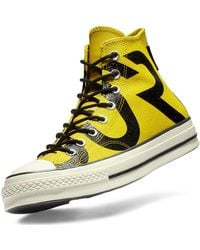 Converse - Yellow Chuck Taylor Goretex Trainers - Lyst