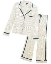 Cosabella - Bella Printed Long Sleeve Top & Pant Pajama Set - Lyst