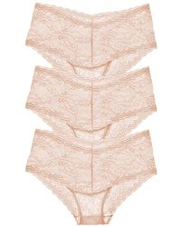 Cosabella - Trenta Lowrider Lace Hotpant Nude 3-pack - Lyst
