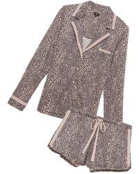 Cosabella - Bella Printed Long Sleeve Top & Boxer Pyjama Set - Lyst