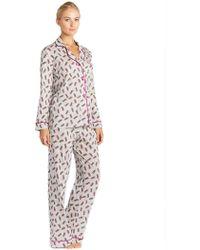 Cosabella - Bella Stripe Printed Long Sleeve Top & Pant Pajama Set - Lyst