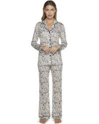 Cosabella - Bella Printed Longsleeve Top & Pant Pajama Set - Lyst