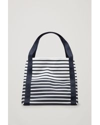 COS - Canvas Tote Bag - Lyst