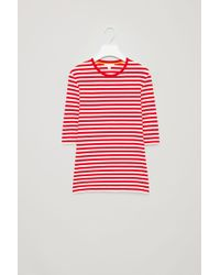 COS - Striped T-shirt - Lyst