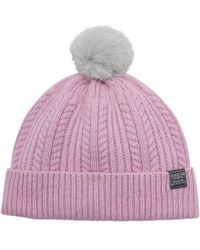 03a215ed1 Lyst - Joules Anya Womens Bobble Hat S/s in Pink