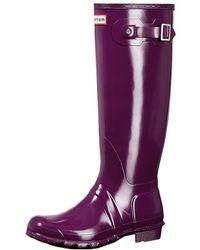 HUNTER - Original Tall Gloss Ladies Wellington - Lyst