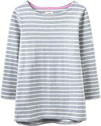 Joules | Harbour Stripe 3/4 Sleeve Jersey Top | Lyst
