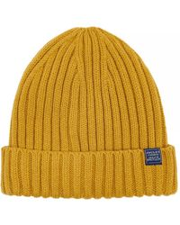 Joules Bamburgh Knitted Mens Hat (x) - Yellow