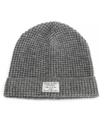 d7be3d99317e4 Lyst - Scotch   Soda Rib Knitted Beanie in Blue for Men