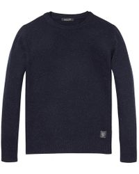 Scotch & Soda - Double Collar Detail Mens Pullover - Lyst