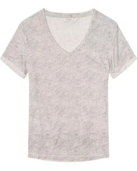 Maison Scotch - Allover Printed S/s Womens Tee - Lyst
