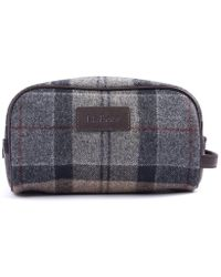 Barbour - Wool Ladies Tartan Wash Bag - Lyst