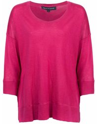 French Connection - Spring Light Knits Long Sleeve Scoop Neck Womens Jumper - Lyst