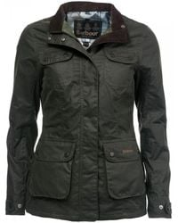 Barbour Wheatsheaf Wax Womens Jacket - Black