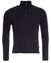 Woolrich - Supergeelong Half Zip Mens Sweater - Lyst