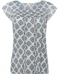 White Stuff - Porto Tile Print Womens Tee - Lyst
