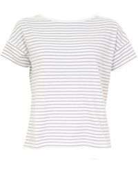 Thought - Marystow Stripe Hemp Womens Jersey Tee - Lyst