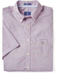 GANT - Poplin Tri Colour Gingham Mens Shirt - Lyst