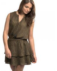 Maison Scotch - Silky Feel Sleeveless Printed Womens Summer Dress - Lyst
