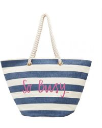 Joules Seaside Womens Summer Beach Bag S/s - Blue