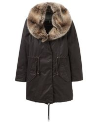 Joules - Swanson Fur Collar Longline Parka (v) - Lyst