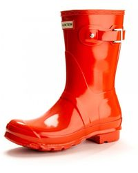 HUNTER - Original Short Gloss Ladies Wellingtons - Lyst