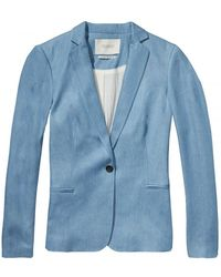 Maison Scotch - Tailored Tencel Womens Blazer - Lyst