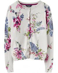 Joules - Skye Printed Basic Womens Cardigan (z) - Lyst