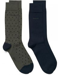 GANT - 2-pk Dot And Solid Mens Socks - Lyst