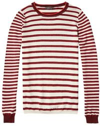 Maison Scotch - Basic Crew Neck Special Ribs Womens Knit - Lyst