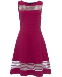 French Connection - Tobey Crepe Knits S/ls Flr Womens Long Dress - Lyst