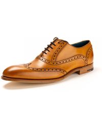 Barker - Grant Calf Leather Brogue Shoes - Lyst