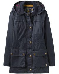 Joules - Daubenay Faux Wax Womens Jacket With Hood (z) - Lyst