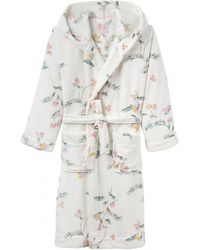 Joules - Rita Womens Fluffy Dressing Gown S/s - Lyst