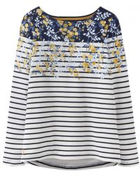 Joules Harbour Printed Long Sleeved Womens Jersey Top (z)