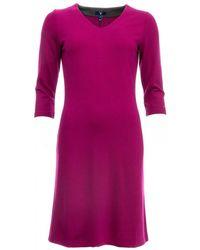 GANT - Jersey V-neck Womens Dress - Lyst