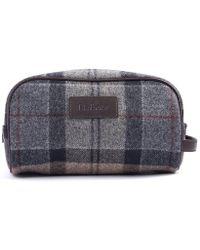 Barbour - Wool Ladies Tartan Wash Bag - Lyst