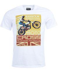 Barbour - Motocross Mens Tee - Lyst