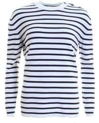 French Connection | Mozart Milano Stripe Long Sleeve Womens Crew Neck | Lyst